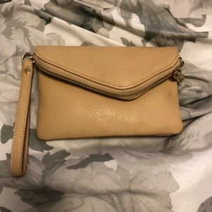 Vegan Leather Nude Wristlet by Urban Expressions